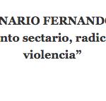 """XV SEMINARIO FERNANDO BUESA  """"Pensamiento sectario, radicalización y violencia""""   26 - 27 de octubre de 2017"""