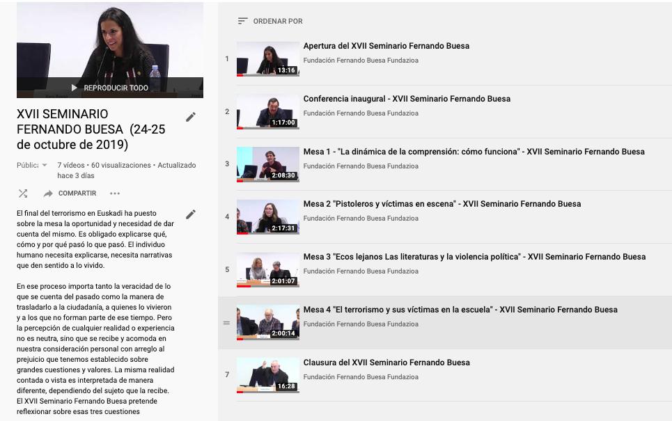 Videos del seminario